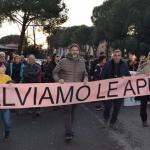 Eros Tetti a una recente marcia per le Apuane (gennaio 2020)