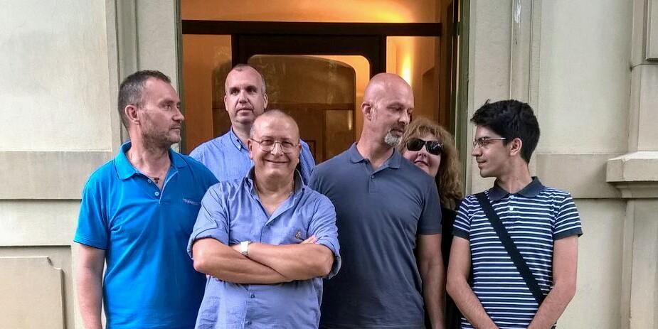 Foto di gruppo alla registrazione di CLT